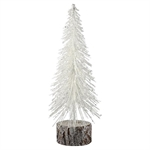 Juletræ tree ehite with wood base medium fra GreenGate - Tinashjem