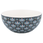 GreenGate / Victoria Dark Grey / Cereal bowl 14 cm