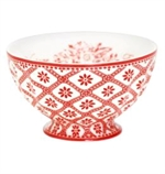 GreenGate / Bianca red / French bowl 10 cm