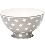 GreenGate / Star warm grey  / soup bowl 15 cm