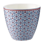 Juno Dusty Blue latte cup fra GreenGate - Tinashjem